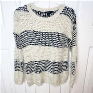 FOREVER 21 S Fuzzy Knit Sweater Stripes